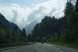The drive from Annency to Chamonix