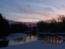 Dusk settles over our winter wonderland