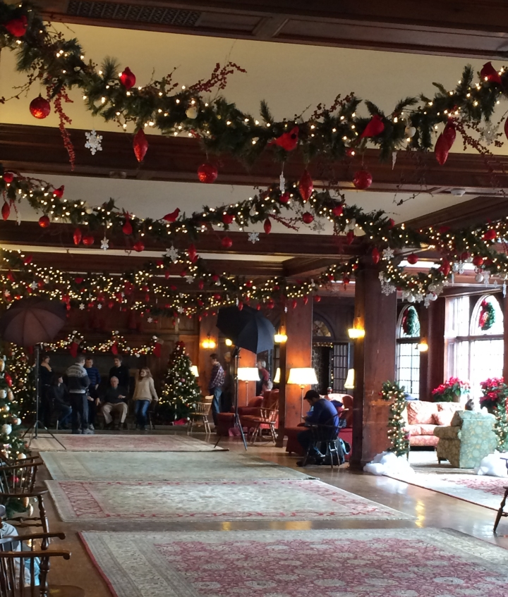 The Grand Hall decorated for Christmas