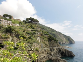 The Via dell'Amore (Lovers' path) is the trail between Manarola and Riomaggiore.
