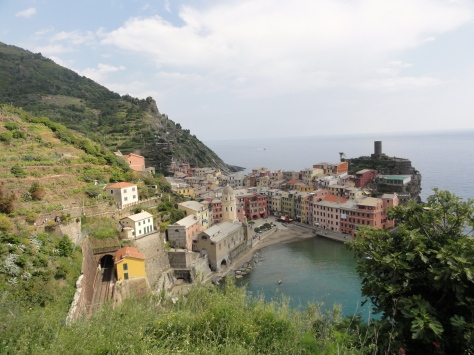 The sight of Vernazza towards the end of our hike