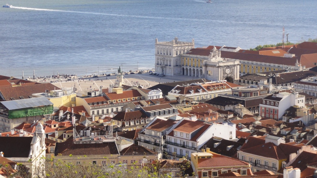 View of Praca Do Comercio (Commerce Square) from the Castle.