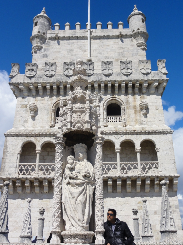 The turrets, the statues and the laced stonework of the limestone Tower.