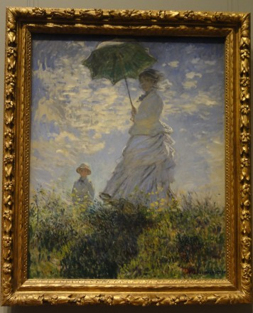 Woman with a Parasol - Madame Monet and Her Son, Claude Monet