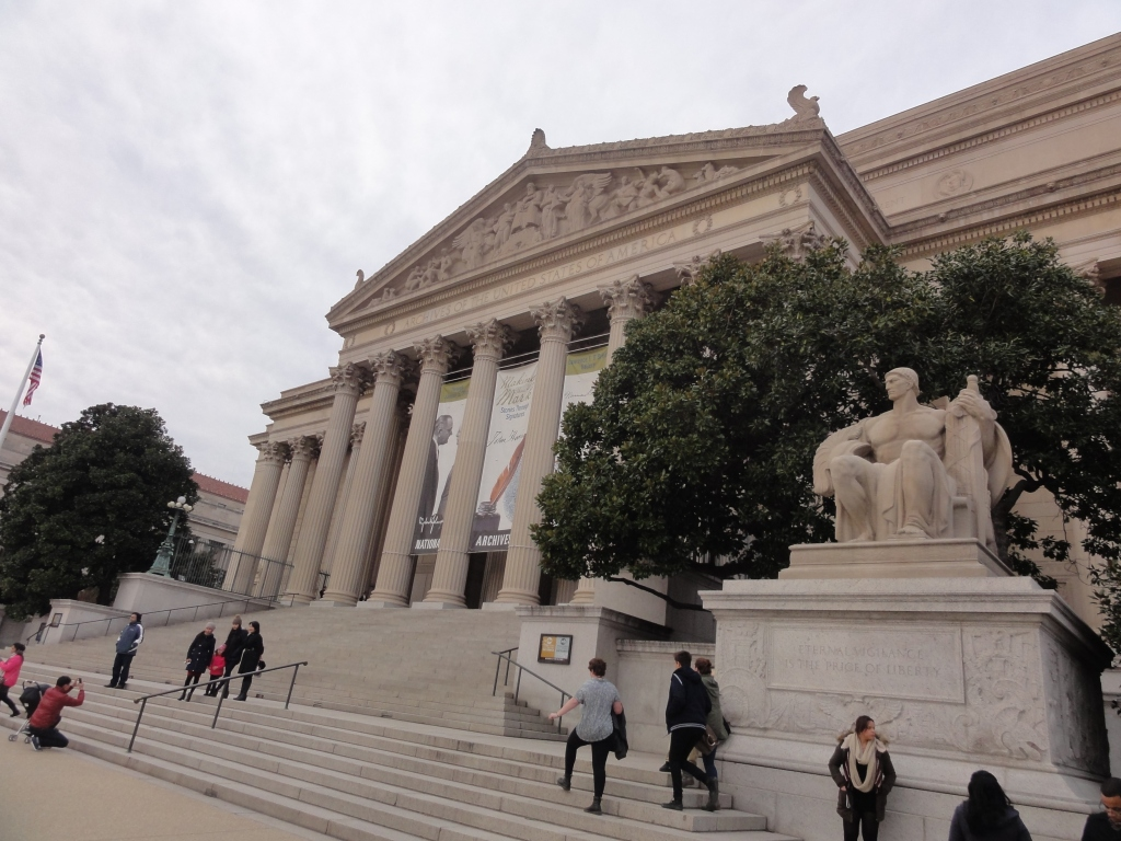 The only photo that I have of the National Archives