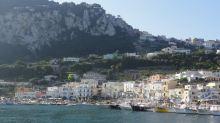 Arriving in Capri by ferry