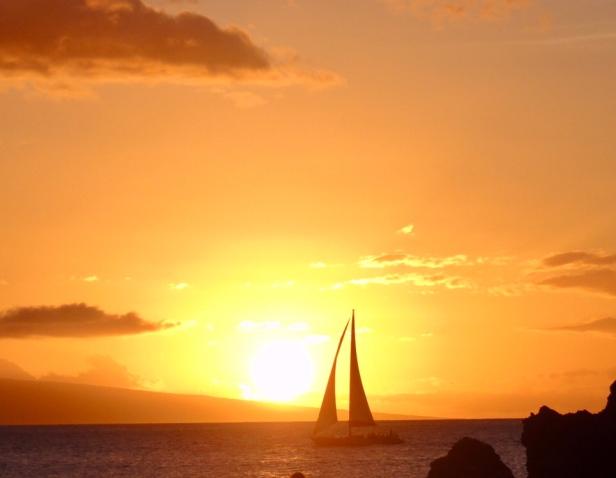 Sunset on Kaanapali beach, Maui
